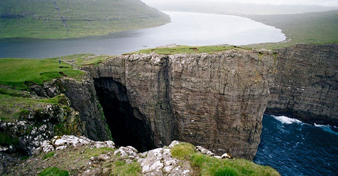 Lake Sorvagsvatn - the Lake Above the Ocean